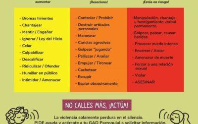 Campaña de sensibilización para prevención de violencia de género e información sobre rutas de atención