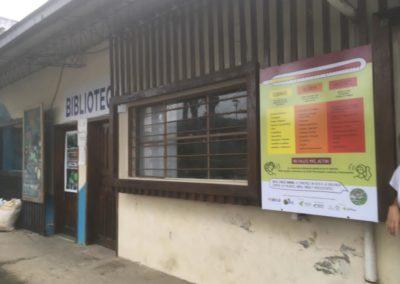 Letrero instalado en parroquias rurales de la Mancomunidad del