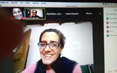 Encuentro virtual con integrantes de la Unidad de Gestión de lo Social Cultural