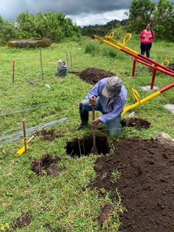 Excavación de plinto